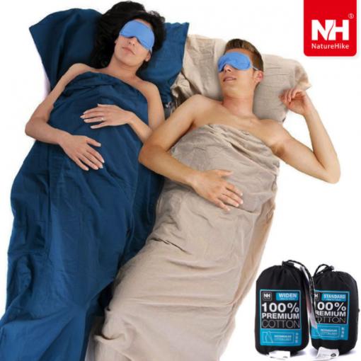 Naturehike Cotton Sleeping Bag Liner Inner Camping Sheet Ultra-light
