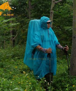 3F Ul Gear Ultralight 15D Poncho Nylon Rain Raincoat Outdoor Shelter Tarp