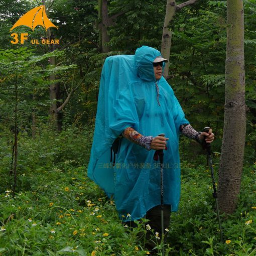 3F Ul Gear Ultralight 15D Poncho Nylon Rain Raincoat Outdoor Shelter Tarp
