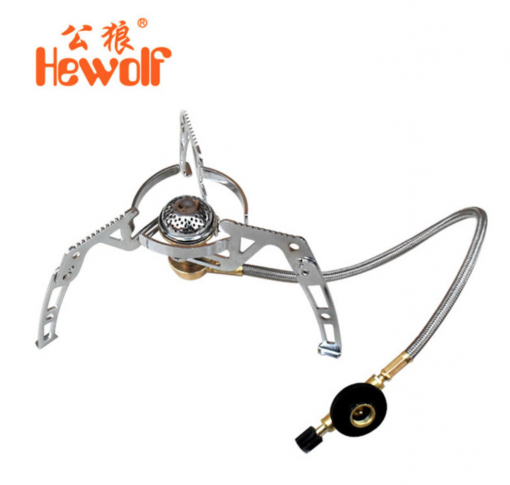 Hewolf Gas Stove Aluminum & Stainless Steel Gas Burner Foldable Camping