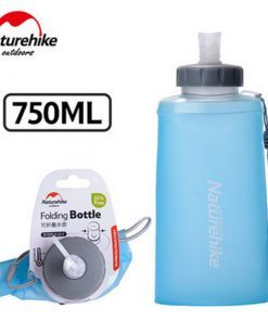 Naturehike Water Bottle 500ml / 750ml BPA free Silicone Folding Soft Outdoor