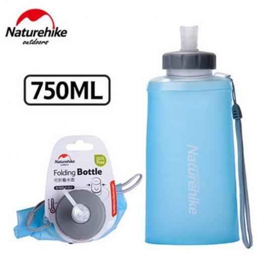 Naturehike Water Bottle 500ml / 750ml BPA free Silicone Folding Soft Outdoor