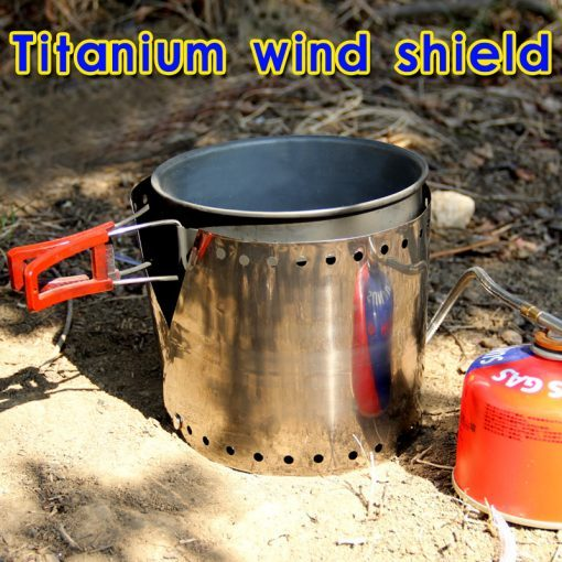 Rover Camel Ultralight Stove Titanium Wind Shield Screen Windproof 16.2g
