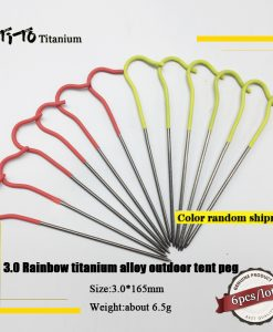 TiTo Titanium Pegs Nails 10 Pieces tent peg stake 3.0*165mm 6grs