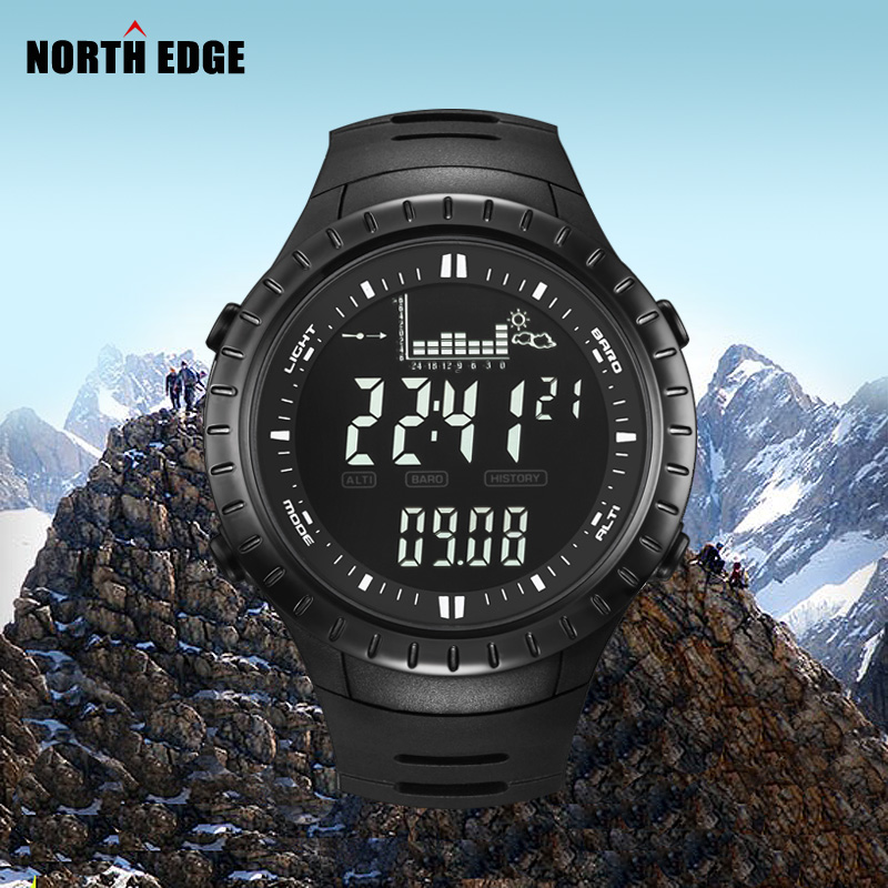 barometer pressure s camping northedge altimeter wristwatch or corporates military compass watches tone sport men button hours mens pedometer trend and watch gift digital altitude off air on thermometer