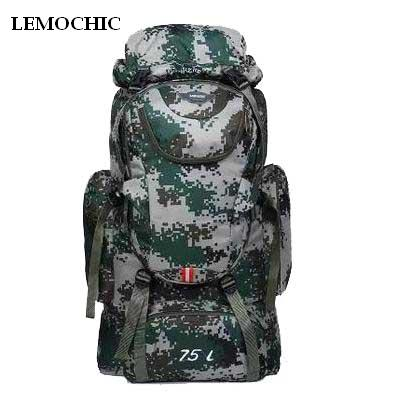 d85aef092dc6 The product is already in the wishlist! Browse Wishlist · LEMOCHIC 75L hiking  backpack outdoor travel rucksack bag pack