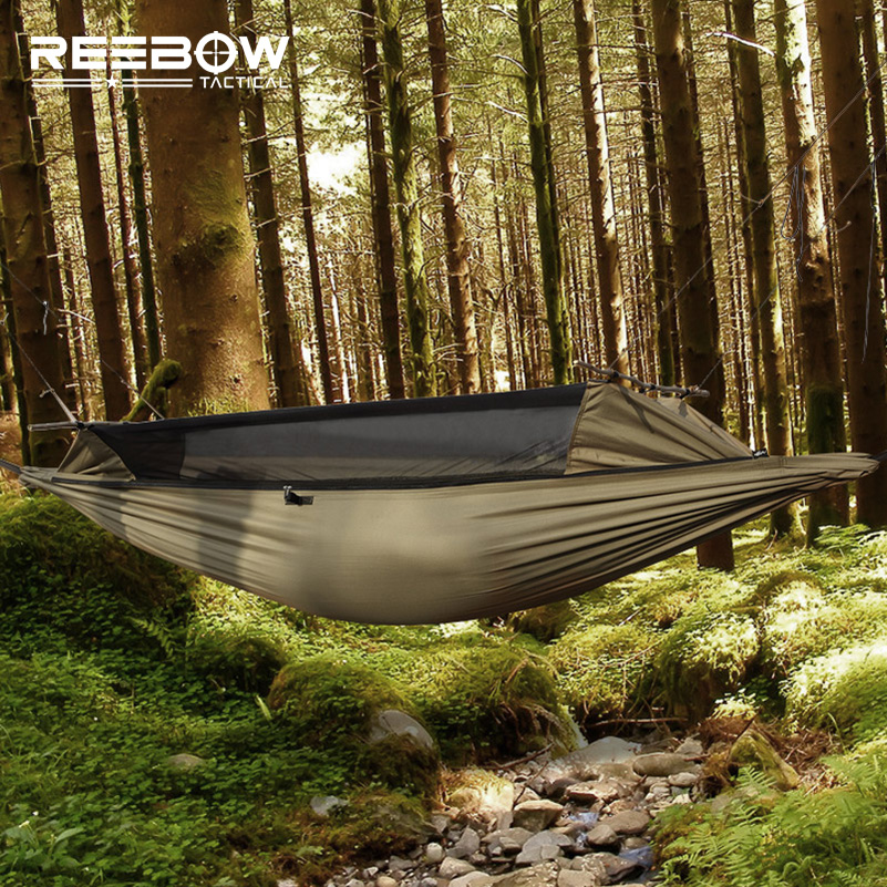 reebow tactical hammock gauze mesh hammock sbs two side zipper  rh   hikeroutlet