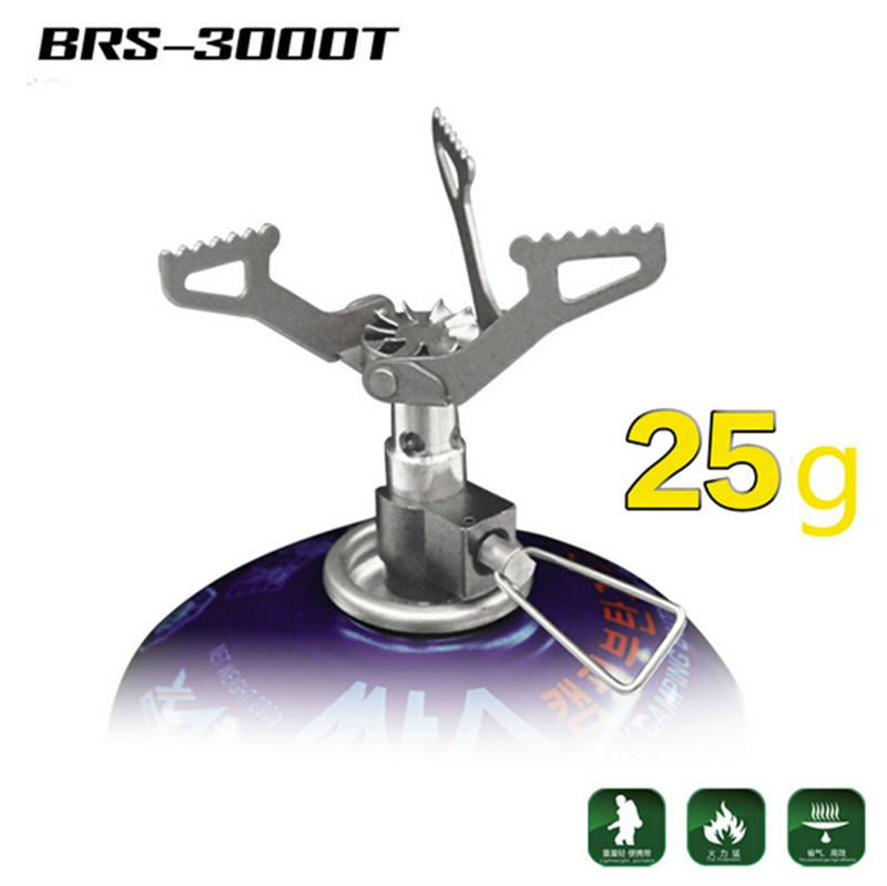 BRS Ultra-light Outdoor Stove Titanium Gas Burner Portable Alloy 25g BRS- 3000T