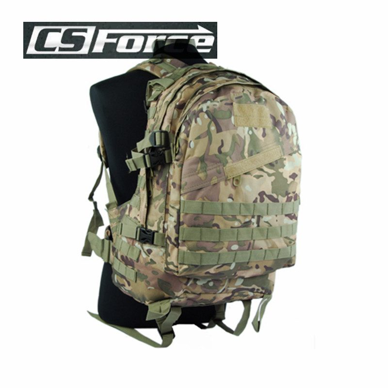 CS Force USMC 3-Day Molle Camel Pack Assault 2-Pocket Backpack Hiking 702aafb4824