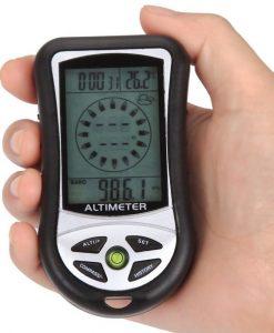 Aceche Compass Altimeter Barometer LCD Thermo Temperature Clock Calendar