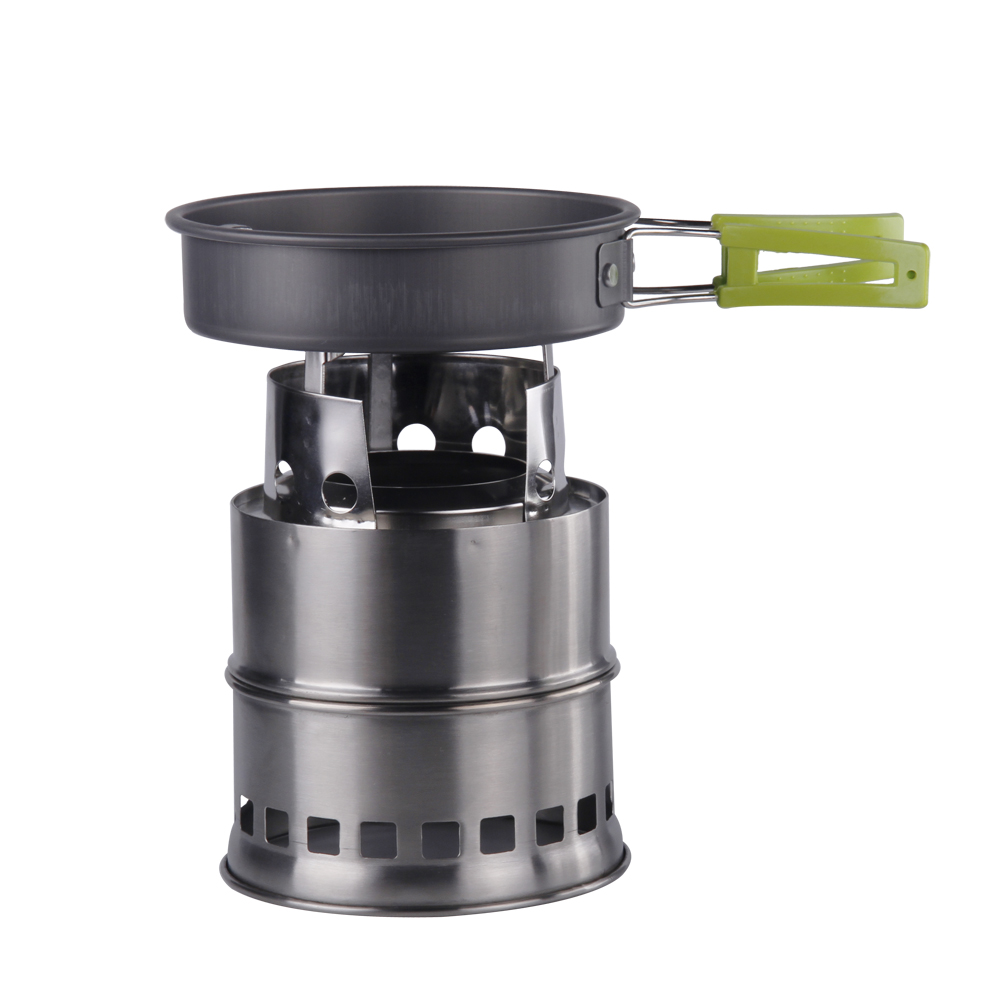 Apg ultralight wood camp stove outdoor cooking firewood for Outdoor wood cooking stove