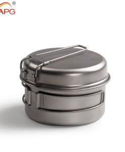 APG ultralight titanium double pan outdoor titanium pot