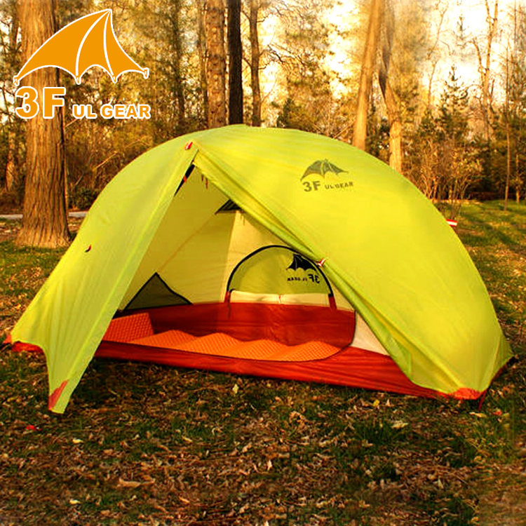 3f ul gear 1 person tent 210T nylon double layer quality outdoor hiking c&ing : ul tent - memphite.com