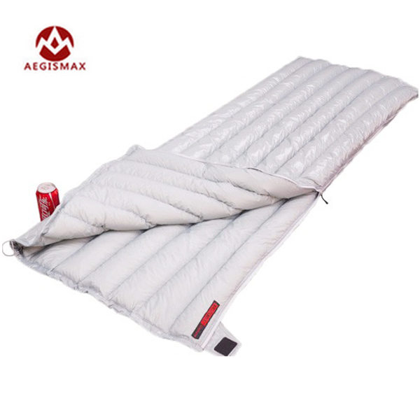 Camp Sleeping Gear Aegismax Outdoor Envelope 95% White Goose Down Sleeping Bag Winter Camping Hiking Equipment Gear