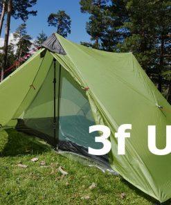 3F UL LanShan Green 4 Seasons Ultralight Tent 15D Silnylon